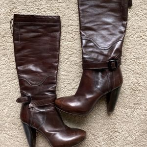 Costume National Tall Leather Boots